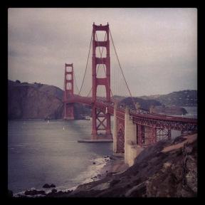 the Golden Gate from Presidio Overlook