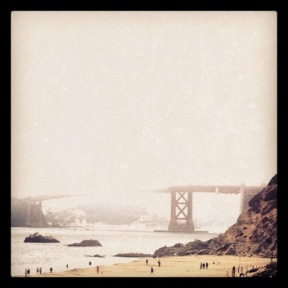 the Golden Gate in Fog