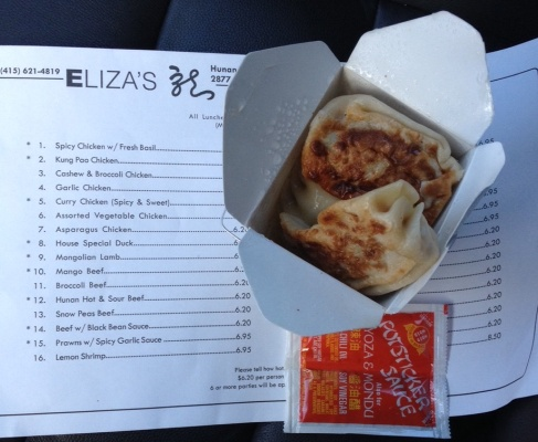 Pot Stickers and Menu