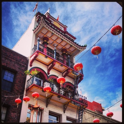 Chinese Building on Waverly Place