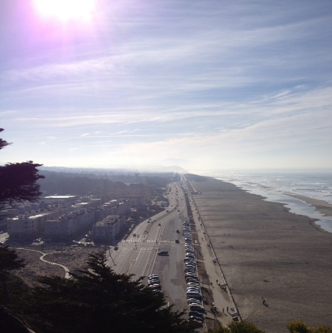 Ocean Beach from Sutro Heights